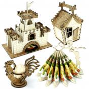 Чайные домики, салфетницы, пасхальные подставки