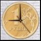 """Часы настенные (""""1 рубль"""") d400 мм"""