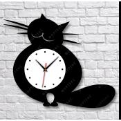 """Часы настенные (""""Кот"""" вариант2) 500х425 мм"""