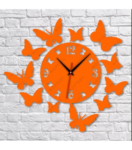 """Часы настенные (""""Бабочки"""" вариант2) d500 мм"""