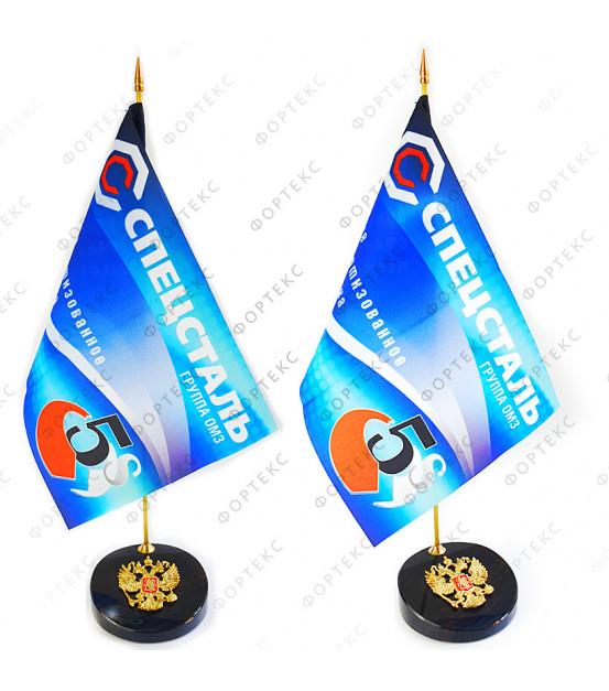 Настольный флагшток с гербом РФ