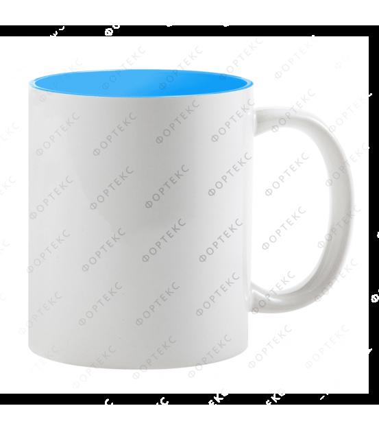 Кружка для сублимации, белая, цветная внутри, 330 мл, d=82 мм