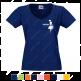Футболка Standart «H Super Club» женская с V-образным вырезом