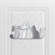 Номерок на дверь (вариант 11) 75 х 150 мм