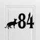 Номерок на дверь (вариант 12) 86 х 150 мм