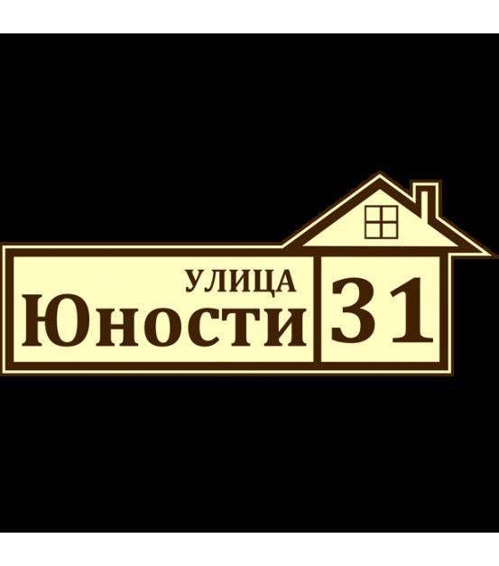 Табличка адресная лазерная 230х500