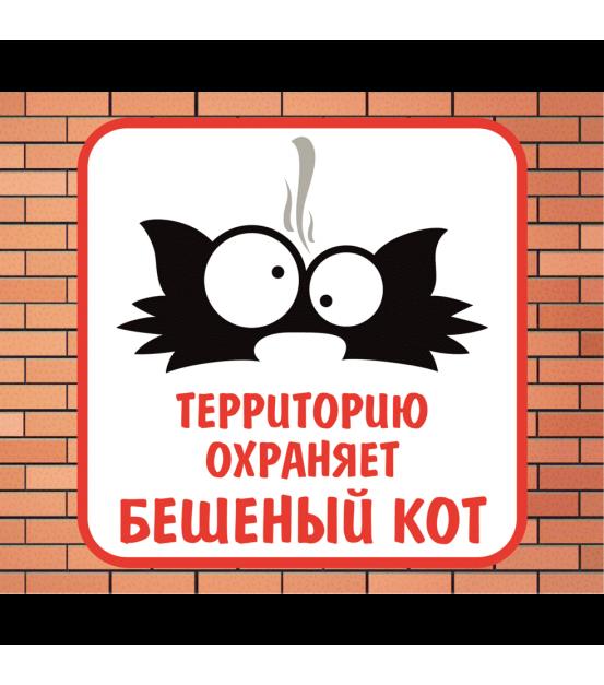 """Табличка """"Осторожно злая собака"""" 150 х 150 мм"""