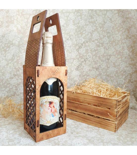 Коробка под свадебную бутылку
