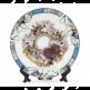 """Тарелка керамическая с каемкой """"листья"""" для сублимации, диаметр 200 мм, с подставкой"""