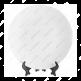 Тарелка керамическая белая для сублимации, диаметр 200 мм, с подставкой